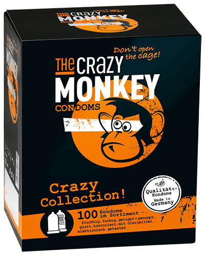 The Crazy Monkey Condoms - Crazy Collection! - 100 Kondome
