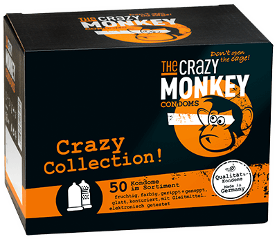 The Crazy Monkey Condoms - Crazy Collection! - 50 Kondome