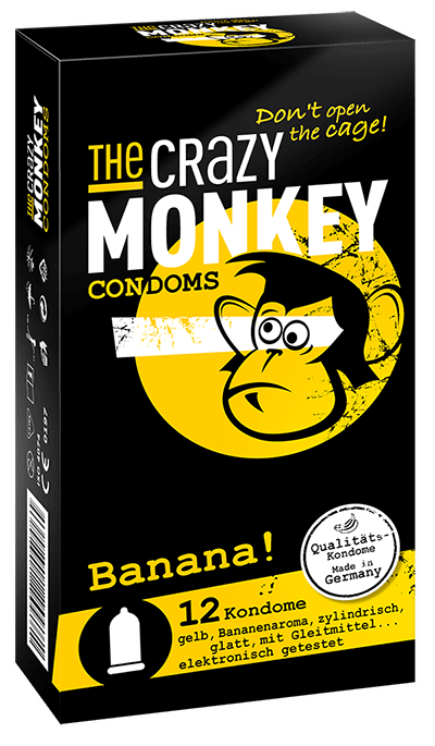 The Crazy Monkey Condoms - Banana! - 12 Kondome