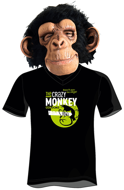 The Crazy Monkey Condoms - T-Shirt