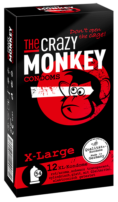 The Crazy Monkey Condoms - X - Large - 12 Kondome